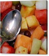 Spoon With Food Canvas Print