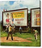 Sport - Baseball - America's Past Time 1943 Canvas Print