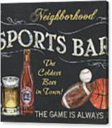 Sports Bar Canvas Print