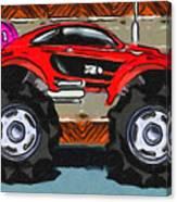 Sports Car Monster Truck Canvas Print
