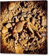 Spotlight On A Extinct Stegosaurus Canvas Print