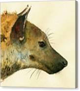Spotted Hyena Animal Art Canvas Print
