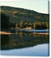Sprague Lake At Dusk Rocky Mountain National Park Canvas Print