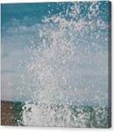 Spray In The Bay Canvas Print