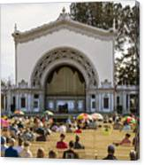 Spreckels Organ Pavilion Concert - San Diego Canvas Print