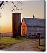 Spring At Birch Barn Canvas Print