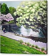 Spring At Snug Harbor Canvas Print