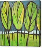 Spring At The Lake Canvas Print