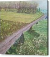Spring At The Railroad Cut Gettysburg Canvas Print