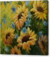 Sunflowers Galore Canvas Print