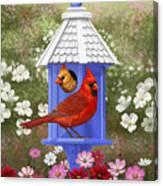 Spring Cardinals Canvas Print