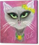 Spring Cat Canvas Print