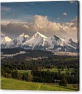 Spring Comes To The High Tatra Mountains In Poland Canvas Print