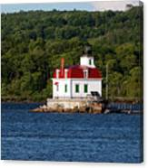 Spring Evening At Esopus Lighthouse Canvas Print