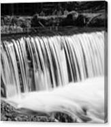 Spring Falls At Hodgson Grayscale Canvas Print