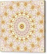 Spring Fantasy Floral Mandala Canvas Print