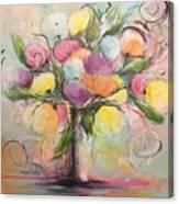 Spring Fling Flowers In A Vase Canvas Print
