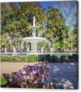 Spring Fountain Canvas Print