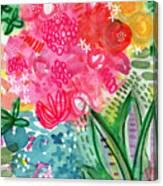 Spring Garden- Watercolor Art Canvas Print