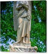 Spring Grove Angel Statue Canvas Print