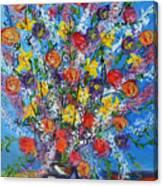 Spring Has Sprung- Abstract Floral Art- Still Life Canvas Print