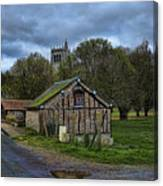 Spring House And Abbey Canvas Print