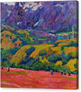 Spring In Bergell Canvas Print