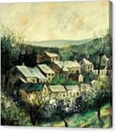 Spring In The Ardennes Belgium Canvas Print