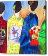 Spring Kimono Canvas Print