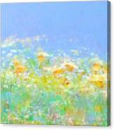 Spring Meadow Abstract Canvas Print