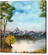 Spring Morning By The Lake Canvas Print