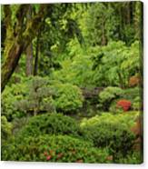 Spring Morning In The Garden Canvas Print
