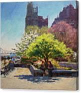 Spring Morning On John Finley Walk Canvas Print