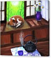 Spring Morning Tea Canvas Print