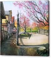 Spring On Clarke Street Port Moody Canvas Print
