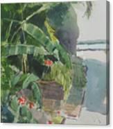 Spring Palms Canvas Print