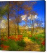 Spring Pathways Canvas Print
