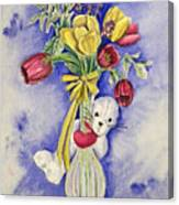 Spring Peek-a-boo I Love You Canvas Print