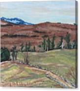 Spring Piopolis Rd Val Racine Quebec Canada Canvas Print
