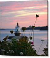 Pink Sky Flowers Canvas Print