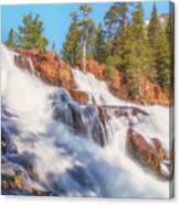 Spring Runoff At Glen Alpine Falls Canvas Print