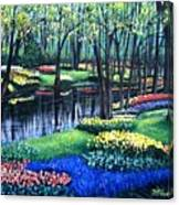 Spring Splendor Tulip Garden Canvas Print