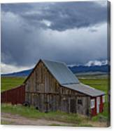 Spring Storm Looms Above The Wet Mountain Valley Canvas Print