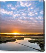 Spring Sunrise On Arcata Bay Canvas Print
