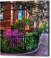 Spring Time In The City Canvas Print