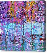 Spring Time In The Woods Abstract Oil Painting Canvas Print