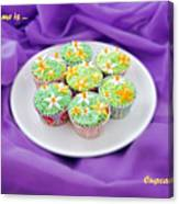 Spring Time Is Cupcake Time Canvas Print