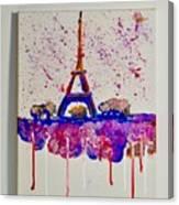 Spring Time. Paris. Eiffel Tower.  Canvas Print