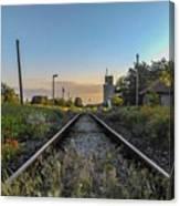 Spring Train Rails Canvas Print