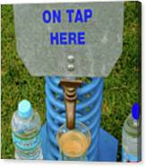 Spring Water On Tap Here Canvas Print